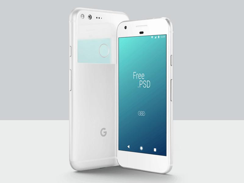 Free Google Pixel Mockup PSD Template (1)