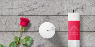 Free Gorgeous Candle Mockup Scene PSD Template (1)