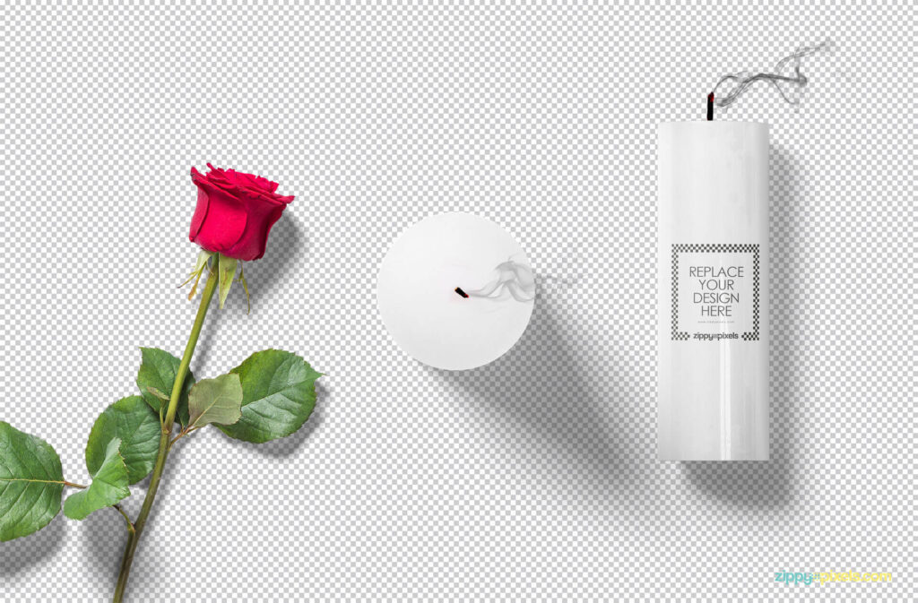 Free Gorgeous Candle Mockup Scene PSD Template1 (1)
