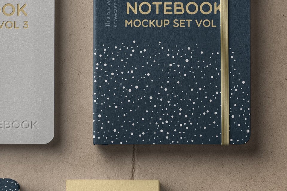 Free High Quality Notebook Mockup Set PSD Template1 (1)
