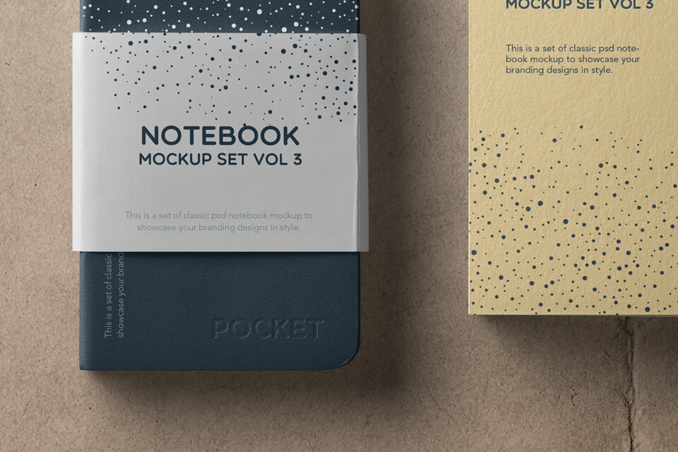 Free High Quality Notebook Mockup Set PSD Template2 (1)