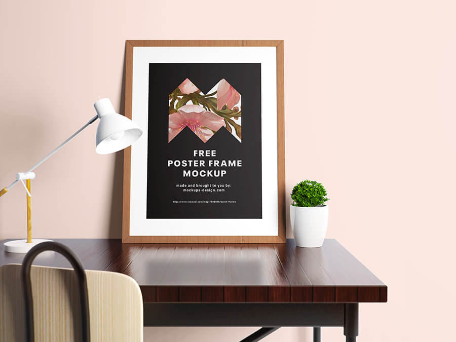 Free High Resolution Poster Mockup PSD Template (1)