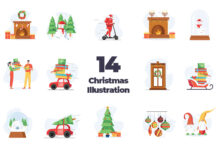 Free Iconscout Christmas Illustration Vector Icon Pack (1)