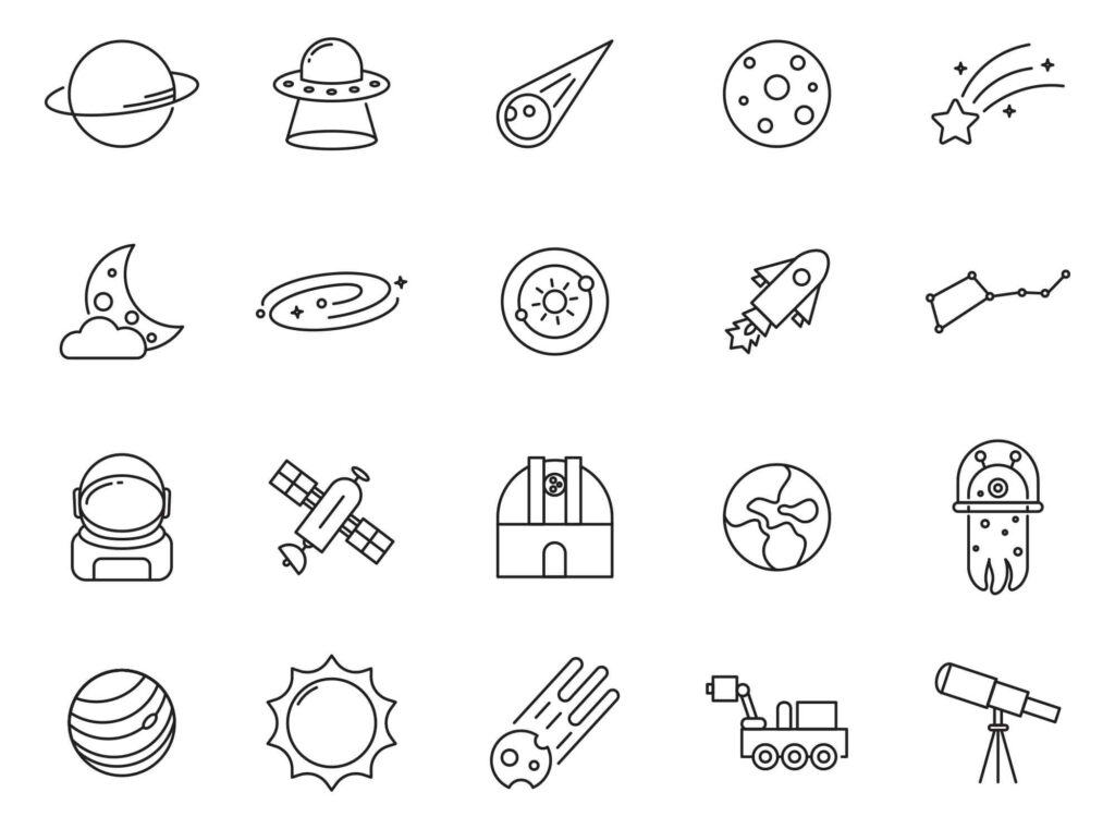 Free Illustrated 20+ Space Vector Icons (1)