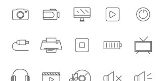 Free Interactive 20+ Multimedia Vector Icons (1)