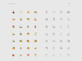 Free Large Asian Food Vector Icon Pack (1)