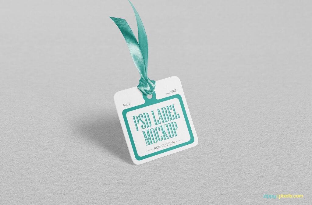 Free Looking Excellent Cloth Tag Mockup PSD Template (1)