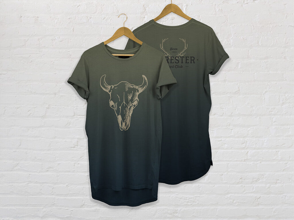 Free Multicolor Pocket T-Shirt Mockups PSD Templates (1)