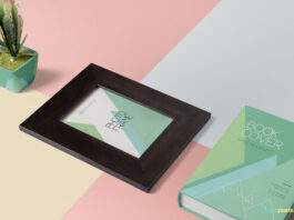 Free Multicolor Wooden Frame Mockup PSD Template (1)