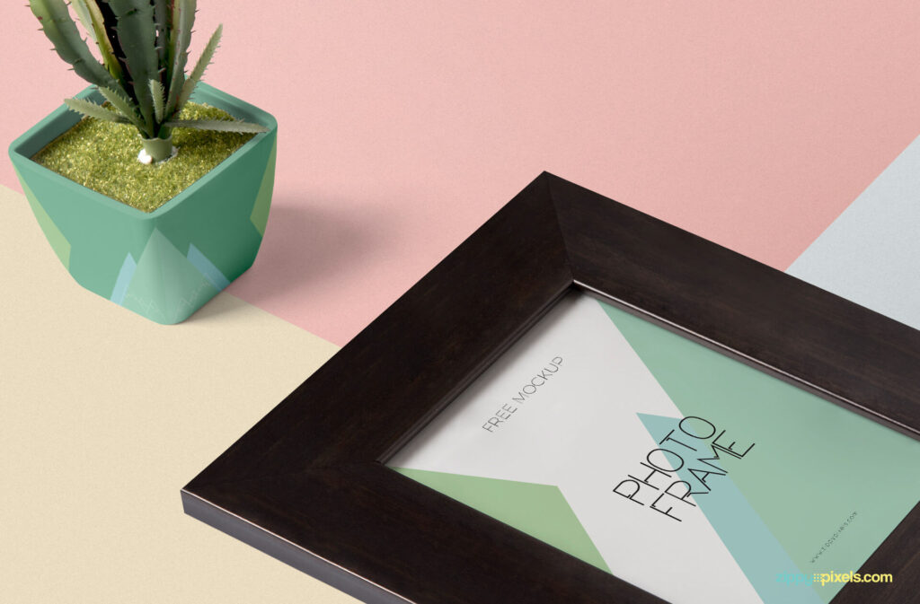 Free Multicolor Wooden Frame Mockup PSD Template3 (1)