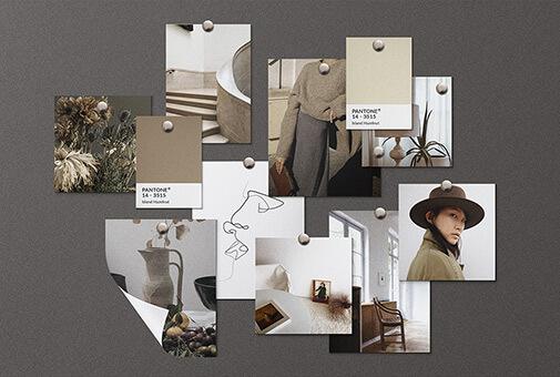 Free Neatly Organised Realistic Mood Board Kit Mockup PSD Template1 (1)