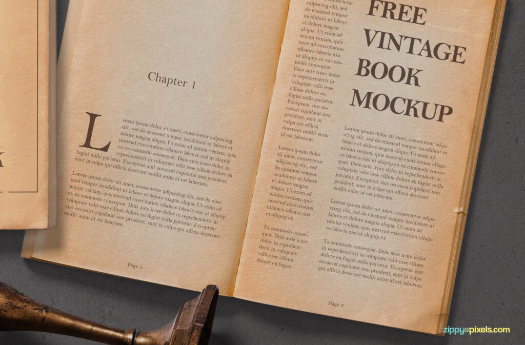 Free Old Vintage Book Mockup PSD Template1 (1)