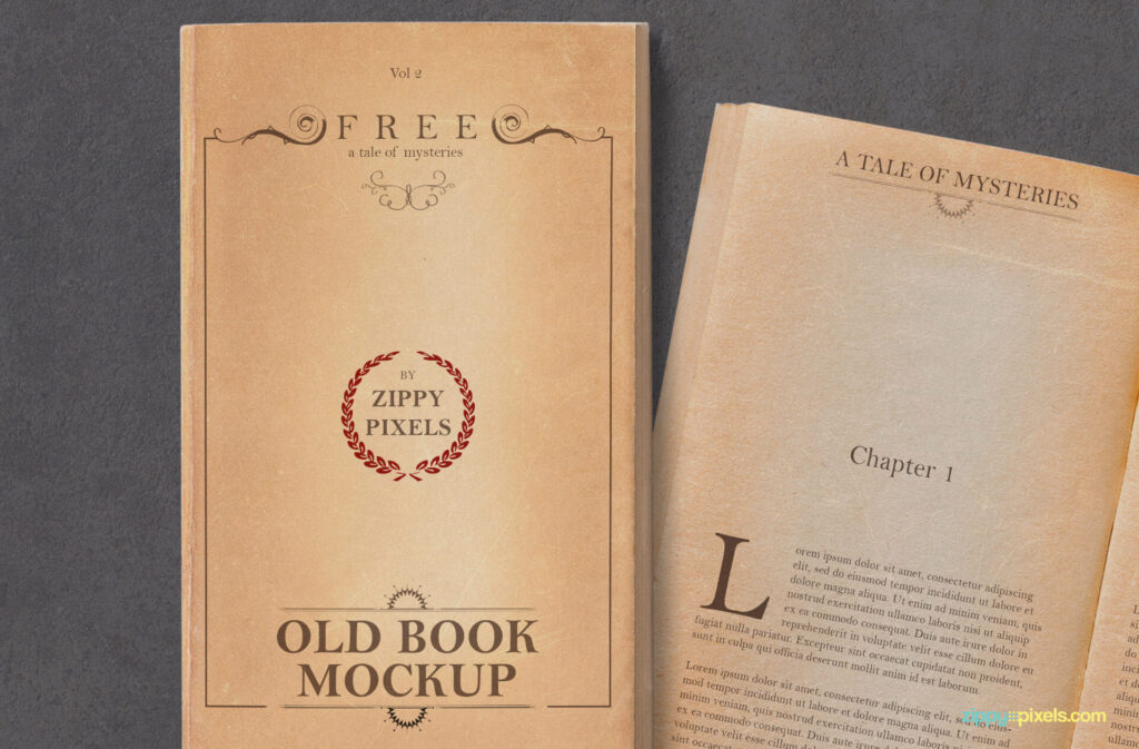Free Old Vintage Book Mockup PSD Template3 (1)