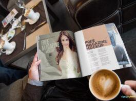 Free Photo Realistic Magazine Ad Mockup PSD Template
