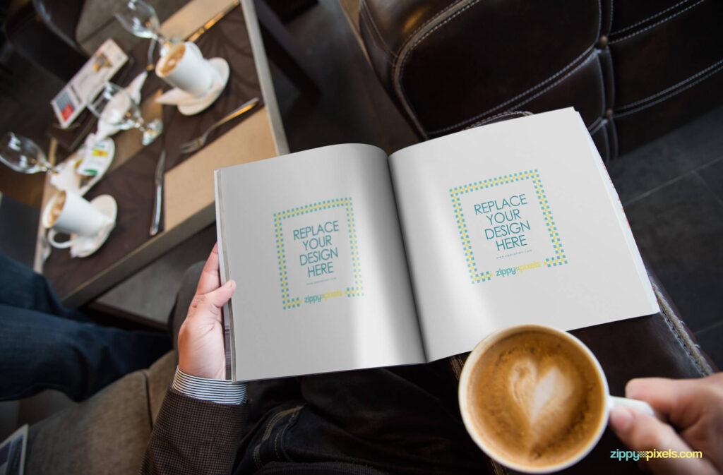 Free Photo Realistic Magazine Ad Mockup PSD Template1