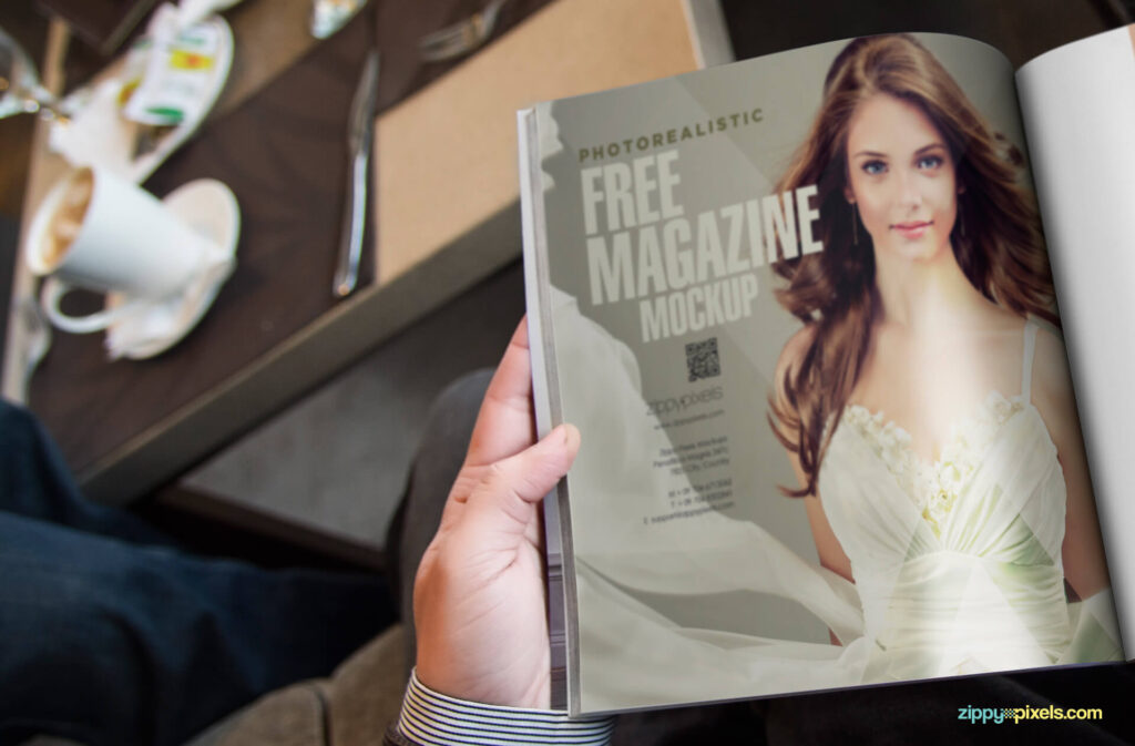 Free Photo Realistic Magazine Ad Mockup PSD Template2