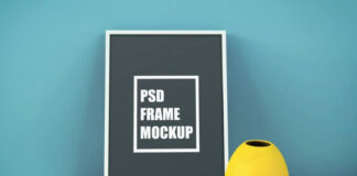 Free Picture Frame on Table Mockup PSD Template (1)