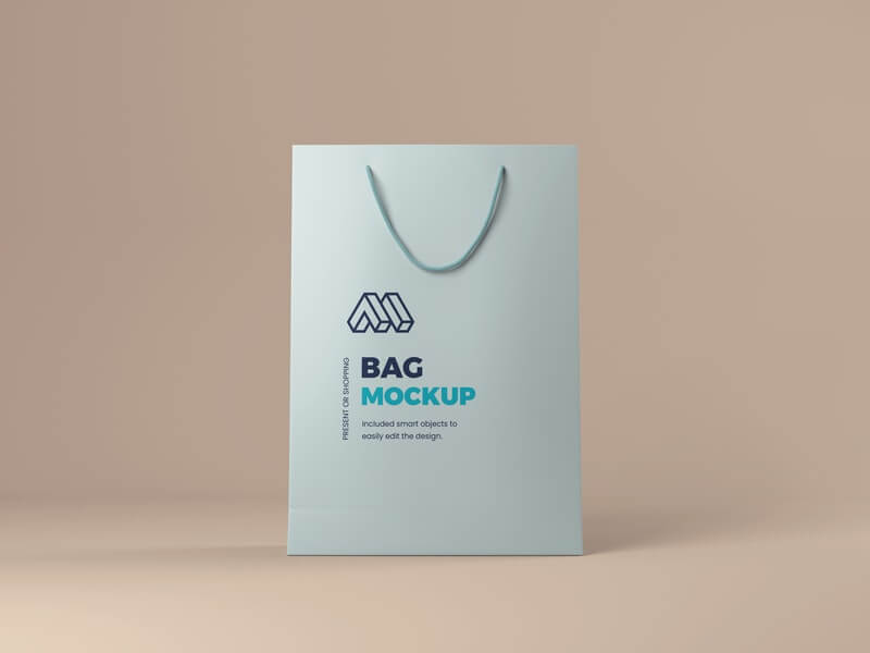 Free Present or Shopping Bag Mockup PSD Template (1)