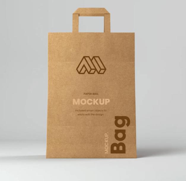Free Shopping Paper Bag Mockup PSD Template
