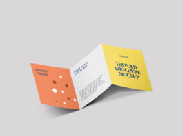 Free Square Trifold Brochure Mockup PSD Template (1)