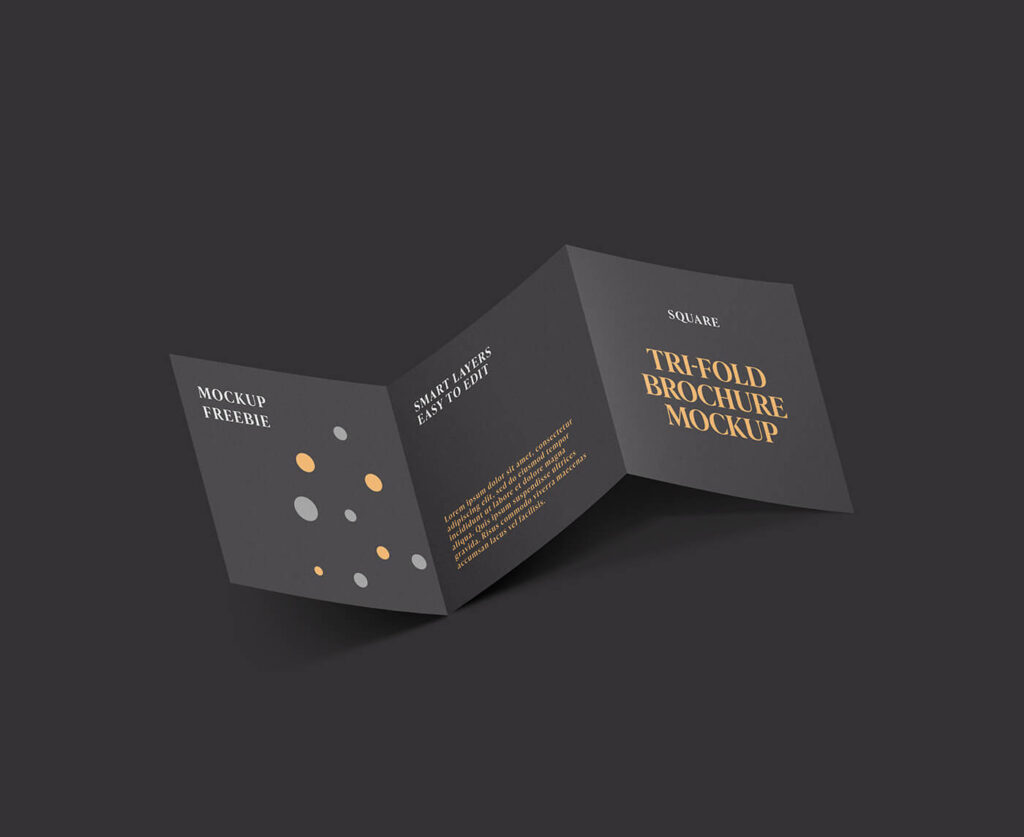 Free Square Trifold Brochure Mockup PSD Template1 (1)