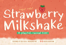 Free Strawberry Milkshake Font Demo (1)