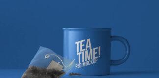 Free Striking Tea Mug Mockup PSD Template (1)
