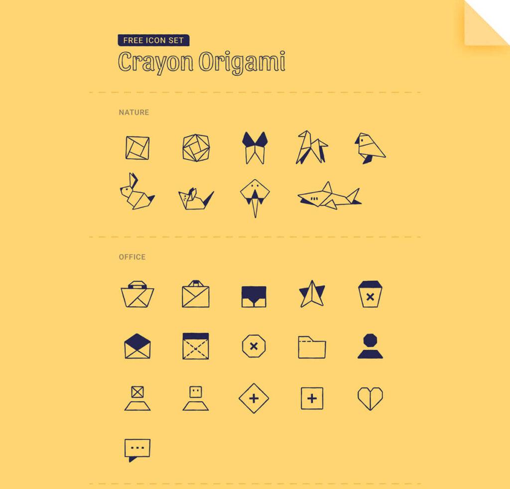 Free Transparent Origami Vector Icon Set (1)