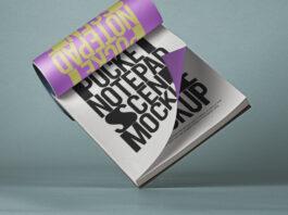 Free Usable Pocket Notepad Mockup Scene PSD Template (1)