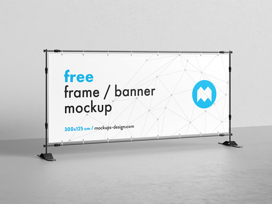 Free Vertical Banner Frame Stand Mockup PSD Template12 (1)