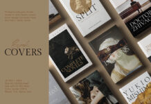 Free Vintage Book Cover Mockup PSD Template (1)