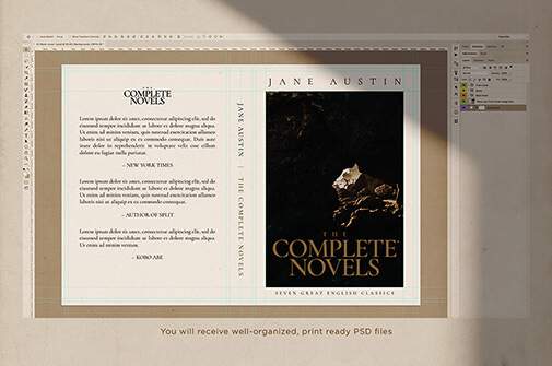 Free Vintage Book Cover Mockup PSD Template3 (1)