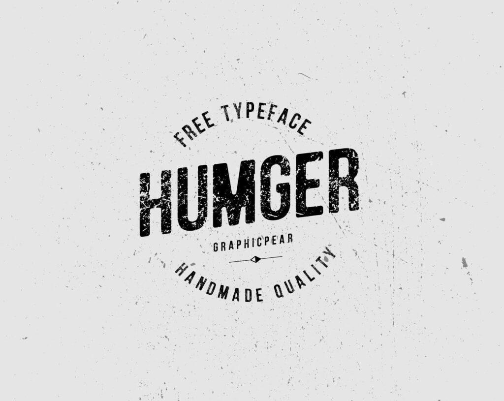Free Vintage Humger Font: