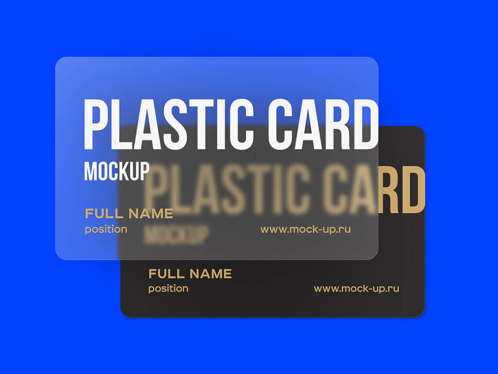 Free Well Editable Plastic Card Mockups PSD Template