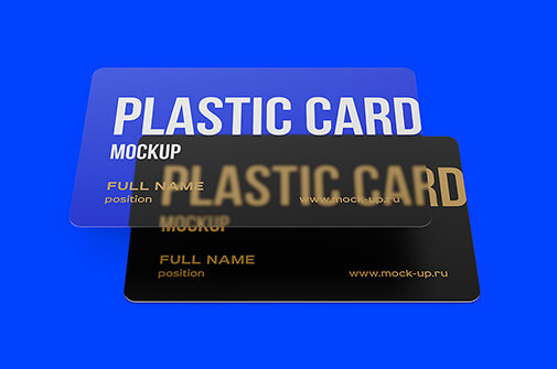 Free Well Editable Plastic Card Mockups PSD Template1