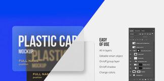 Free Well Editable Plastic Card Mockups PSD Template2