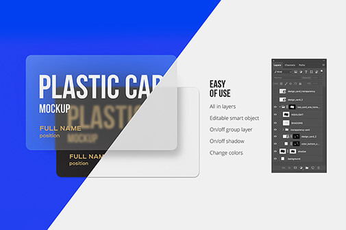 Free Well Editable Plastic Card Mockups PSD Template2