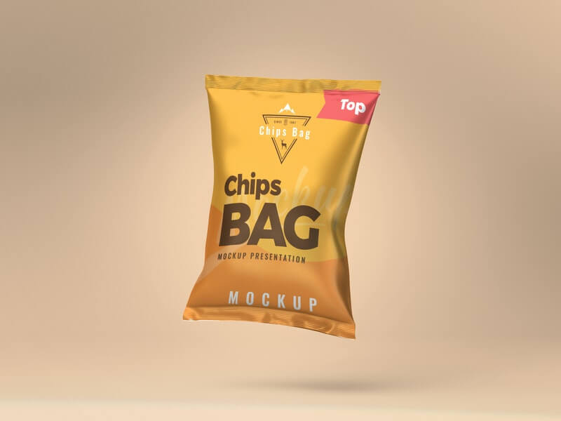 Free Well Organized Chips Bag Mockup PSD Template (1)