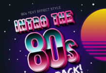 Intro the 80s are back text effects Premium Vector (1)