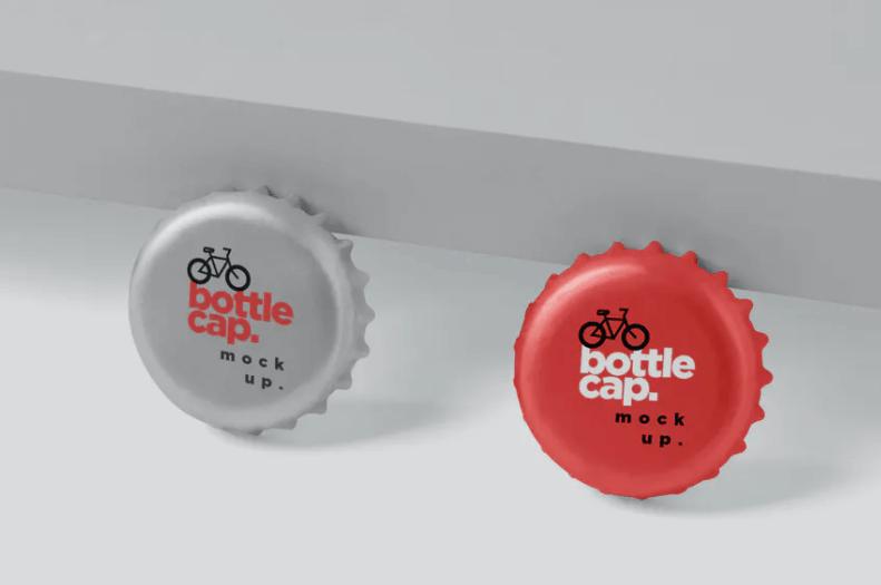 Metal Bottle Cap Mockups