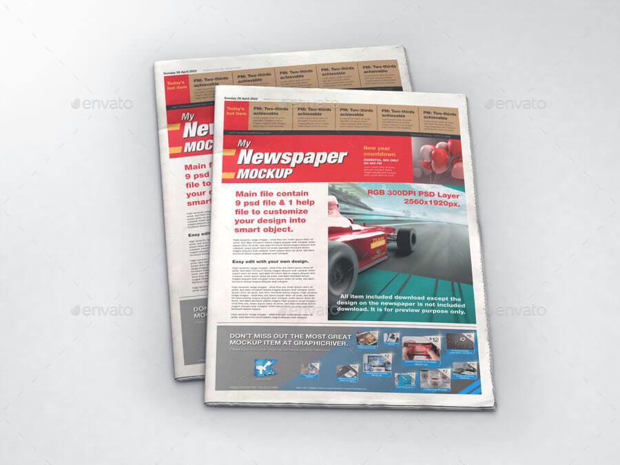 Newspaper Mock-up Bundle (1)