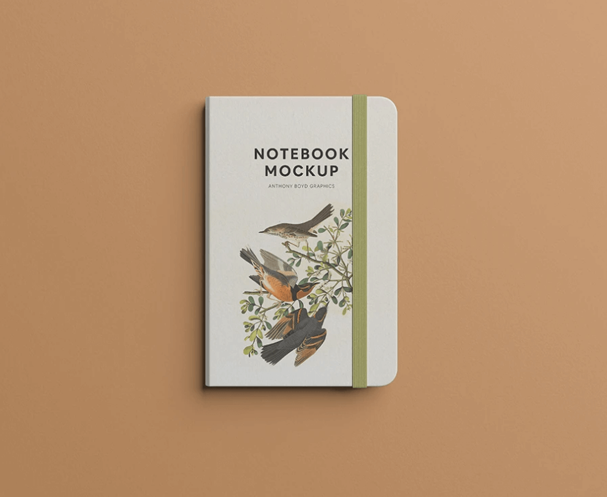 Free Daily Usable Notebook Mockup PSD Template