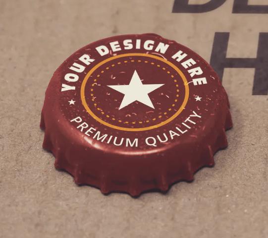 Paperboard Bottle Cap Mockup