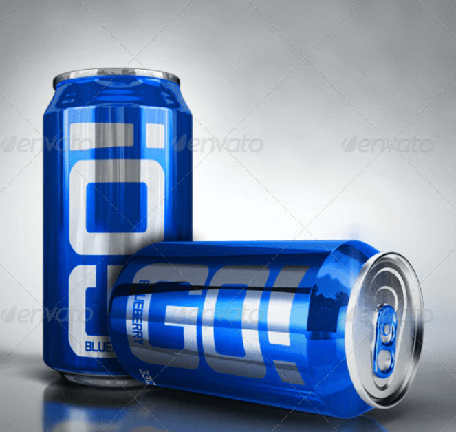 Photorealistic Soda Can Mockup