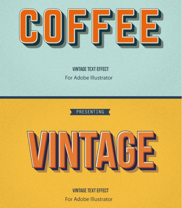 Retro Vintage Text effects3