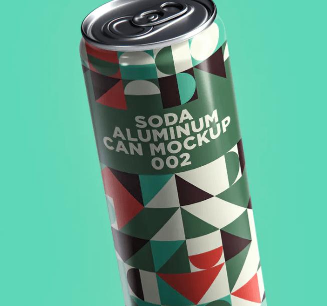 Soda Aluminum Can Mockup