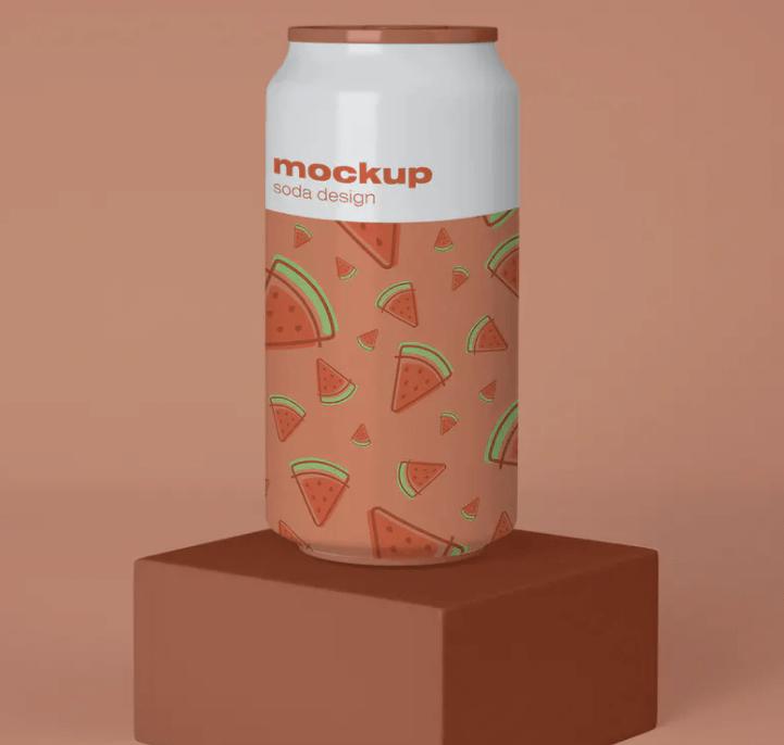 Soda Cans Mockup