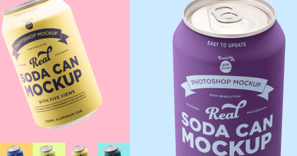 Soda can mockup1