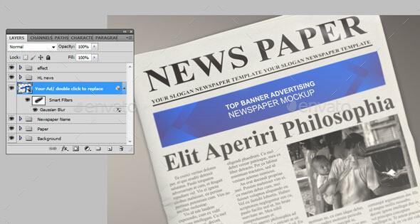 Top Banner Advert Newspaper Mockup (1)