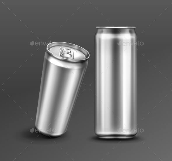 Vecor Template of Aluminium Can for Soda or Beer (1)